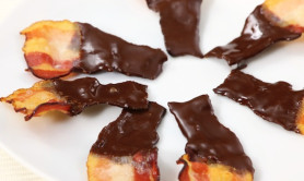 chocolate covered bacon skewer